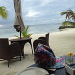 Breakfast view by the beach at The Dinning Room