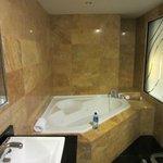 Suite bathroom, shower behind me