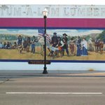Historical Mural Depicting End of Oregon Trail