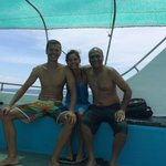 Mike and Katja from Poland doing their Dive Master at Sail Rock!!
