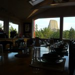 View from  Devil's Tower Lodge