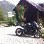 motorcycle parking at the chalet