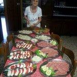 La Nori, una dei padroni storici che da 50 anni cucina il loro coniglio buonissimo!!!!