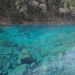 Danau berwarna biru