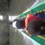Motorized canoe trip to lodge