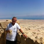Masada udsigt til Jodan over Dead Sea