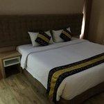 Gold room massive bed