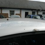 Filthy state of my car after being at the de Salis