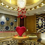 Lobby...beautifully decorated for Valentines