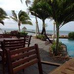 morning coffee pool/ocean side :)