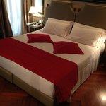 Very comfortable bed in Deluxe Room, good AC, quiet.
