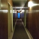 Hallway (after pushing the button to turn on the lights!)