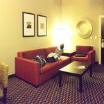 Sitting area. Awesome to have a separate area away from the beds.