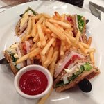 Club sandwich and fries will set you back £15 (USD $24.35)