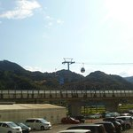 the ropeway from the parking's view