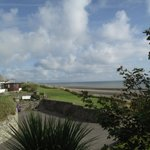 View from the garden overlooking the beach