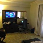 Hotel TV, work desk