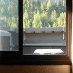 le toit terrasse occutant la belle vue sur les Alpes