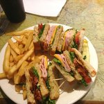 Mediocre expensive club sandwich
