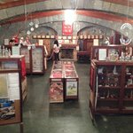 Visão interna de um dos salões do museu