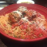 Spaghetti with Marinara and Meatballs