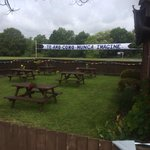 Wedding incorporating the beer garden