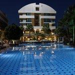 Abendstimmung am Hotel