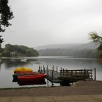 From Pitlochry Boating Station Verandah : Shower on loch