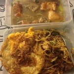 Ox Tail Soup & Seafood Fried Noodles.