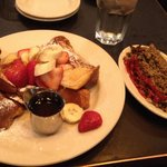 Challah French toast and turkey hash
