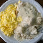 Simple, but fantastic. Biscuits were prefect! Haven't had biscuits and gravy this good in a whil