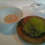 Highland grass with peanut cream
