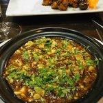 Tofu au poivre .... et volaille aux chataignes