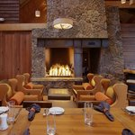 The fire place at Range creates a comfortable atmosphere.