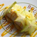 Blanc manger coulis mangue