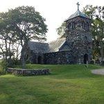 St.Ann's Stone Church on the ocean at