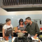 Kris and JoAnn with Chef David in Barcelona