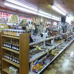 Indoor shopping at Hill-billy Village