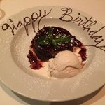 Who wouldn't love this chocolate lava cake for their birthday?