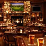 fireside dining in fall and winter