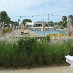 Large heated pool