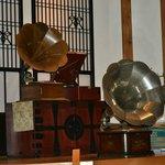 ロビーで開催される蓄音機