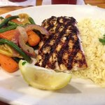 Grilled Grouper Dinner w/ veggies and rice