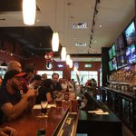 Frisco Tap House - along the bar during football season from the end corner.