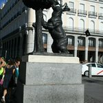The symbol of Madrid, the Oso y Madroño.