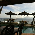 View from the front of the property of Sabang side of Puerto Galera