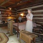 Historic Ogle Log Cabin Left Side & Tour Guide