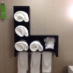 Bathroom towel line-up