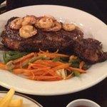 Ribeye Steak & Shrimp w/ Veggies