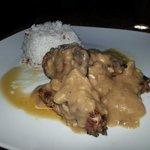 pork chop with mushroom gravy